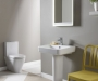 Agenda 600 basin with pedestal and WC