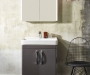 Compass 600 Clay freestanding with ceramic basin and sleek cab